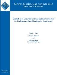 Estimation of Uncertainty in Geotechnical Properties - PEER ...