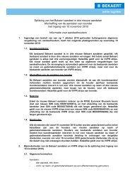 FAQ betreffende de opsplitsing in vijf van elk Umicore ... - Bekaert
