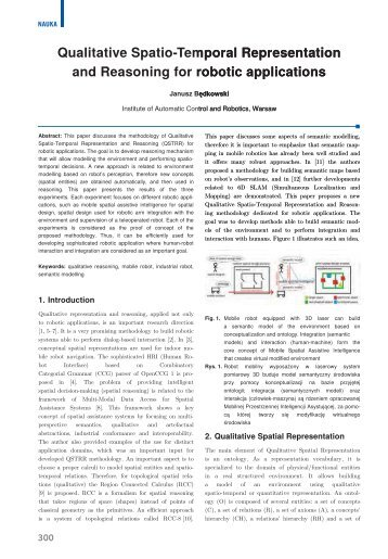 Qualitative Spatio-Temporal Representation and Reasoning ... - PAR