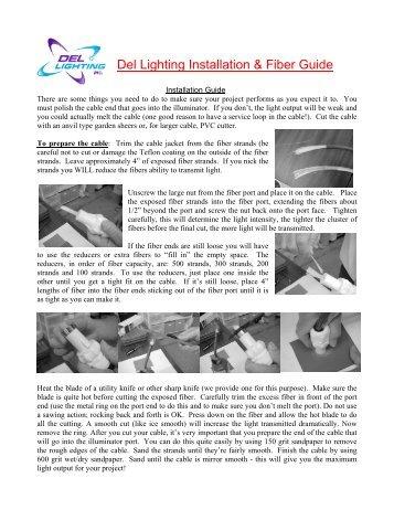 Del Lighting Installation & Fiber Guide