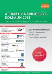 KOMMUN 2013 ATTRAKTIV NÄRINGSLIVS- GSLIVS- - Conductive