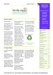 News Letter Vol.3 Issue 3 August 2012 - Family Voice Peterborough