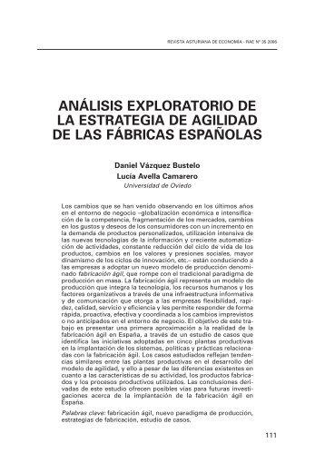 análisis exploratorio de la estrategia de agilidad de las fábricas ...