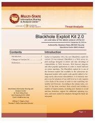 Blackhole Exploit Kit 2.0! - Multi-State Information Sharing and ...