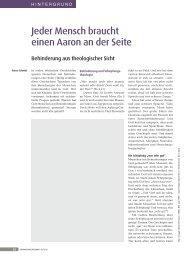 Jeder Mensch braucht einen Aaron an der seite - Rainer Schmidt