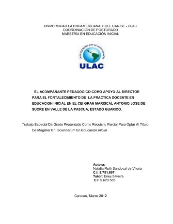 GERENCIA EDUCATIVA - Universidad Nacional Abierta