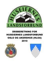 Ã¥rsberetning for huseiernes landsforbund oslo og akershus (hloa)