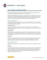 Federal resumes