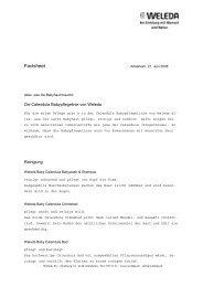 Factsheet Calendula Babypflegelinie - Weleda