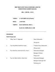 KSM BIL. 3/2010 TARIKH : 21 OKTOBER 2010 - Kementerian ...