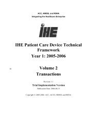 IHE Patient Care Device Technical Framework