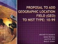 ANSI/NIST ITL Standards Update Workshop