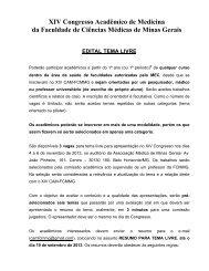 EDITAL TEMA LIVRE Corrigido - Faculdade de Ciências Médicas ...