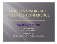Health Care Reform - Montana Worksite Health Promotion
