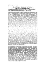 Christoph Butterwegge - Ein politischer Kuhhandel ... - Welt der Arbeit