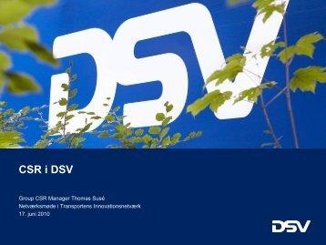 CSR i DSV - Transportens Innovationsnetværk