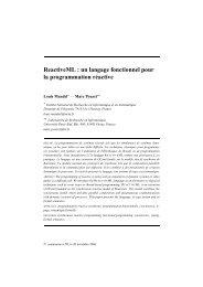 ReactiveML : un langage fonctionnel pour la programmation ... - Inria