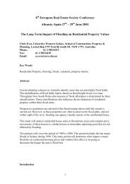 29 June 2001 The Long Term Impact of Flooding on ... - eres.scix.net