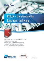 PDF/A – the standard for long-term archiving - PDF Association