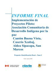Informe Final - Guatemala - OLADE - Organización Latinoamericana ...