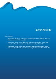 Section 8 - Liver activity - Organ Donation