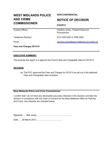 WMPCC 016 2013 Fees and Charges 2013-14 - West Midlands ...