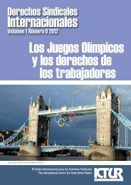 Los Juegos Olímpicos - International Centre for Trade Union Rights