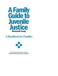 Monmouth County Family Guide to Juvenile Justice 2009