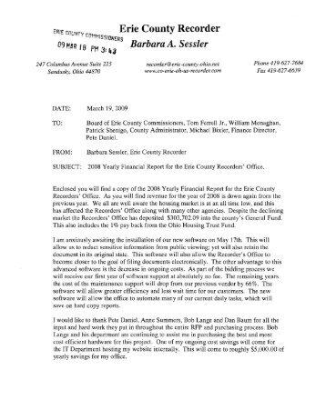 Erie County Recorder - Erie County, Ohio - State of Ohio