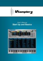 Cakewalk VSampler 3 User's Manual - MIDI Manuals