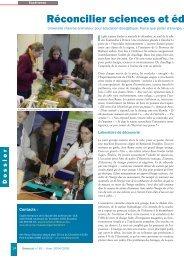 Réconcilier sciences et éducation à l'environnement - Symbioses