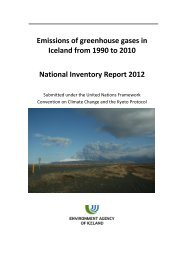 Emissions of greenhouse gases in Iceland from 1990 to 2010 ...
