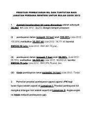 prestasi pembayaran bil & tuntutan bulan ogos 2012 - Jabatan ...
