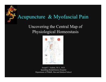 Acupuncture & Myofascial Pain - MyCourses