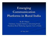 RV Rajan- Rural Communication.pdf - Xavier Institute of Management