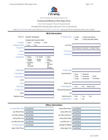 Commercial Business Form Sample Commercial Credit Application Form