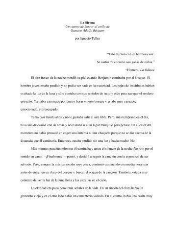 La Sirena Un cuento de horror al estilo de Gustavo Adolfo Bécquer ...