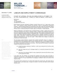 Court of Appeal Rules on Employer's Attempt to Alter Fundamental ...