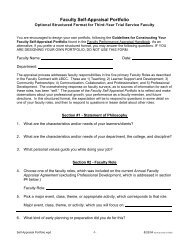 Faculty Self-Appraisal Portfolio - LBCC Paperless Office