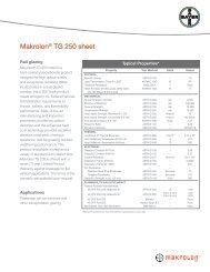 Makrolon® TG 250 sheet - Sheffield Plastics