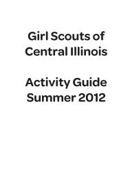 Girl Scouts of Central Illinois Activity Guide Summer 2012
