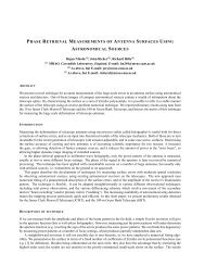 phase retrieval measurements of antenna surfaces using ... - URSI