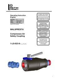 WALPRESTA Compressed air safety coupling, type LS-023, Rev-C