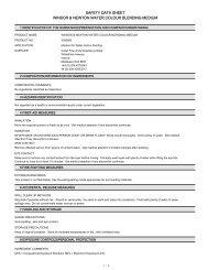 safety data sheet winsor & newton water colour ... - Aart de Vos