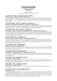 FILMOGRAPHIE - Intervenant (pdf) (59.8 ko) - cinema-midipyrenees