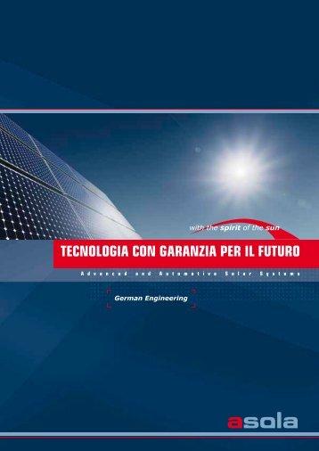TecnologiA con gArAnziA per il fuTuro - asola
