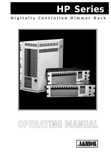 HP Series Operating Manual - Jands