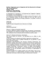 Reglamento para la Regulación del Uso Racional de la Energía ...