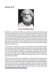 Notiziario N. 10 - Euclide. Giornale di matematica per i giovani