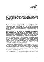 Política Comercial Externa da União Europeia e Instrumentos ... - AEP